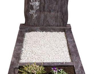 Grafsteen bloemen