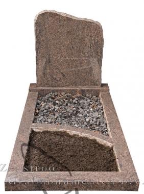 Grafsteen schuin