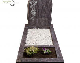 Grafsteen bloemen – model D8